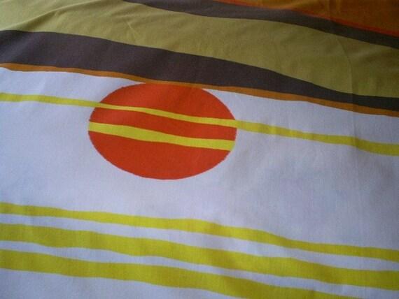 Vintage Retro Sunset Bed Sheet set-Full