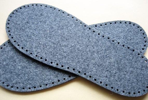 semelles de feutre pantoufle une paire. Black Bedroom Furniture Sets. Home Design Ideas