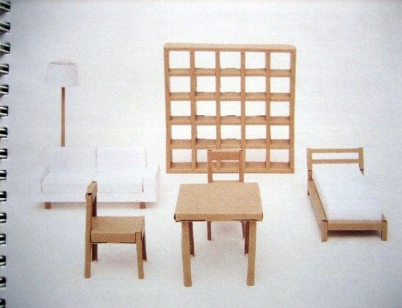 Fold Up Cardboard Furniture Book From Muji
