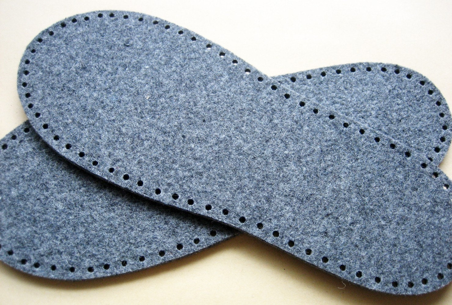 Knitting Pattern For Slippers With Soles : felt slipper soles one pair
