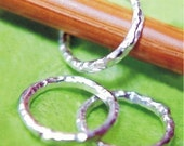 Handmade Sterling Ring Knitting Stitch Markers - Set of 3 - US10