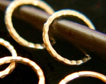 Gift of Five Golden Rings for Your Knitting - US10 Stitch Markers - Set of 5 - 14k GF