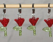 Tulips - Stitch Markers - Set of 4
