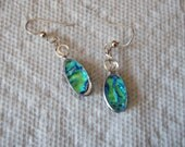 Dichroic Fused Glass Oval Earrings   er000