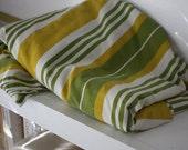 Green Stripes Sheet.  Twin Flat.