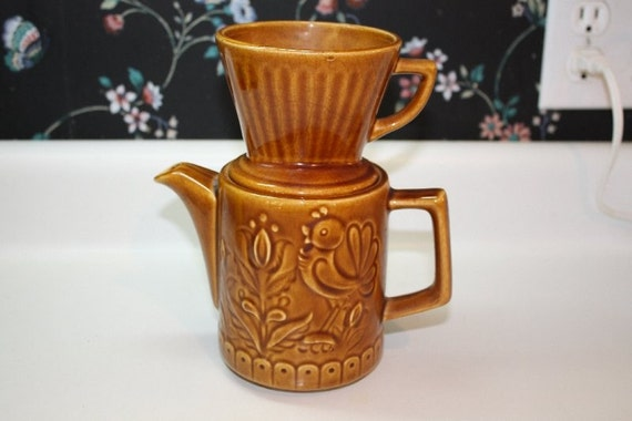 One Cup Ceramic Coffee Maker : Single Cup Ceramic Drip Coffee Pot. Japan. by Recy on Etsy