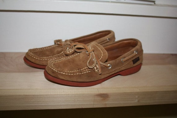 GOING VEGAN SALE Jarman Suede Loafers. Size 7.  Like Sperry.