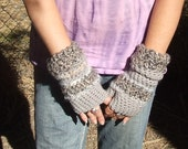 Arm Warmers - Fingerless Gloves - FUNKY CHUNKY - Grey Matter