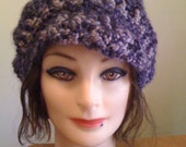 Crochet Slouchy Tam \/ Beret with a Brim