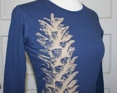 Earthy Pine Cone Navy Top