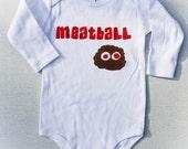 Meatball One infant piece long sleeve