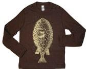Sale Brown Puffer Fish Toddler Shirt
