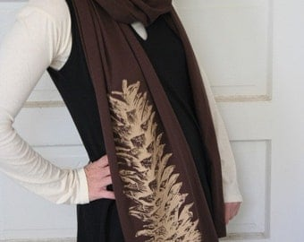 Earthy Pine Cone wrap scarf