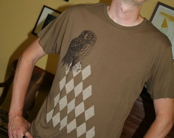Men Argyle Owl T Shirt