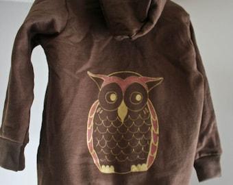Golden Owl Brown Toddler Hoody