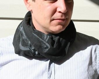 Silver Antlers black melange wrap scarf