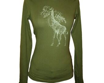 Olive Green Giraffe and Acacia