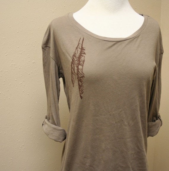 Brown Feathers Deck Shirt