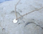 Tiny Disc Necklace in Gold Fill