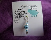 Reserved for ktotten - Star Bright Stitch Marker w/ Handmade Glass Bead