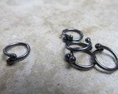 16 Gauge Copper 'Gunmetal' Connectors/Links - 5 pieces