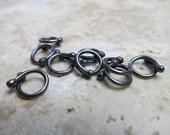 16 Gauge Copper 'Gunmetal' Connectors/Links - 9 pieces