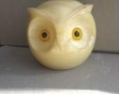 Vintage Italian Alabaster Owl