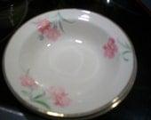 Vintage 1945 Taylor Smith Taylor Pink Carnation 2 fruit dessert side dishes china