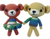 PATTERN Fred and Ginger Amigurumi Bears