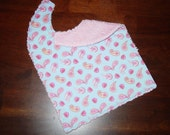 BOUTIQUE CHENILLE BABY TODDLER BIB PAISLEY