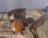 Spoon Bracelet - Butterscotch Handmade Lampwork Bead and Spoon Bracelet
