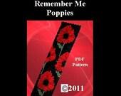 Remember Me - Poppies -  PDF Beadweaving Pattern  - EBW Team