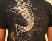Tattoo Koi in Sepia Tone ((sizes sm and med.)) ONLY