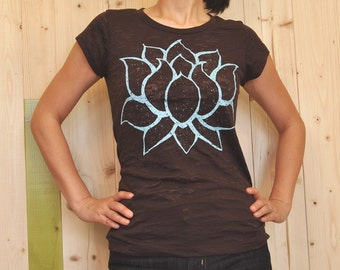 big LOTUS brown burnout T