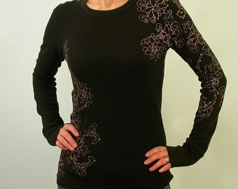 Tattoo Lotus sleeve thermal shirt