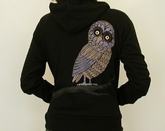 SALE hOOtin' hood swamp OWL women hoodie only Medium and Large