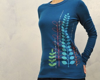 colorful Garden womens thermal  small, medium and Large
