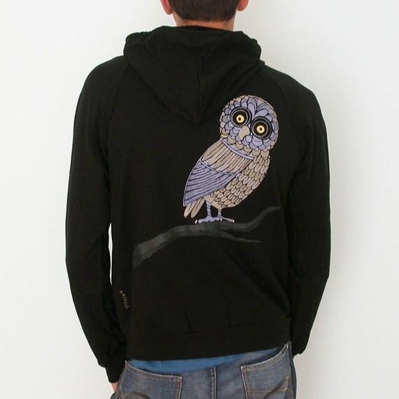 Hood Swamp Hoot owl Mens Hoodie