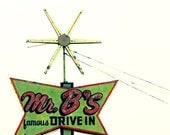 old retro rural signs star 70s missouri drive-in 5x5 original signed art photograph