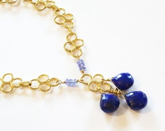Lapis, Tanzanite And Vermeil Bracelet