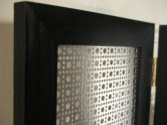 Folding Jewelry Frame- Black with Silver-New Style