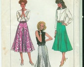 Vintage 1987 Simplicity Gored SKIRT Sewing PATTERN size 10 to 14