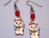 Maneki Neko - Lucky Kitty Earrings