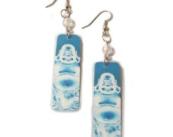 Buddha Blue Earrings