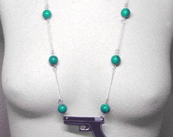 Sweet  Handgun Necklace
