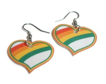 Rainbow Love Earrings