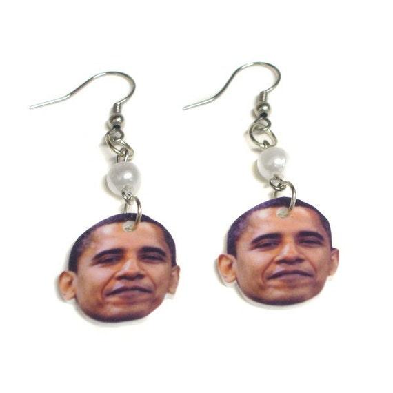 obama earrings by kimazier on etsy