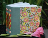 Blank Art Journal filled with water color paper Beaded Leather Spine
