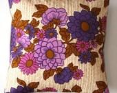 "Decorative throw pillow cover purple retro pillowcase no 57 - 16"" x 16"""