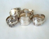 Five Silver Spoon Jewelry Rings Discount Recycled Spoons You Pick Sizes